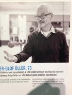 Per-Olof Öller on näyttelyn mannekiini